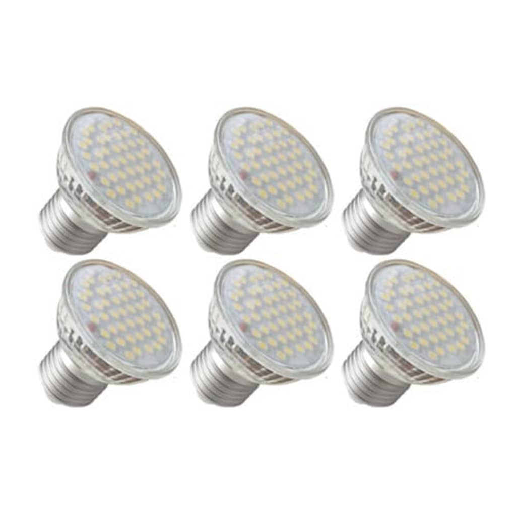 LED spotlights 3W 6-pack (E27)