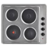 Built-in Electric Hot Plate Hob 4 Burner Stainless Steel