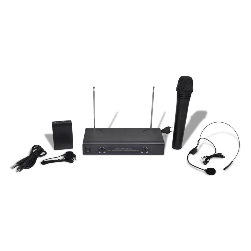 how to connect wireless microphone receiver to amplifier