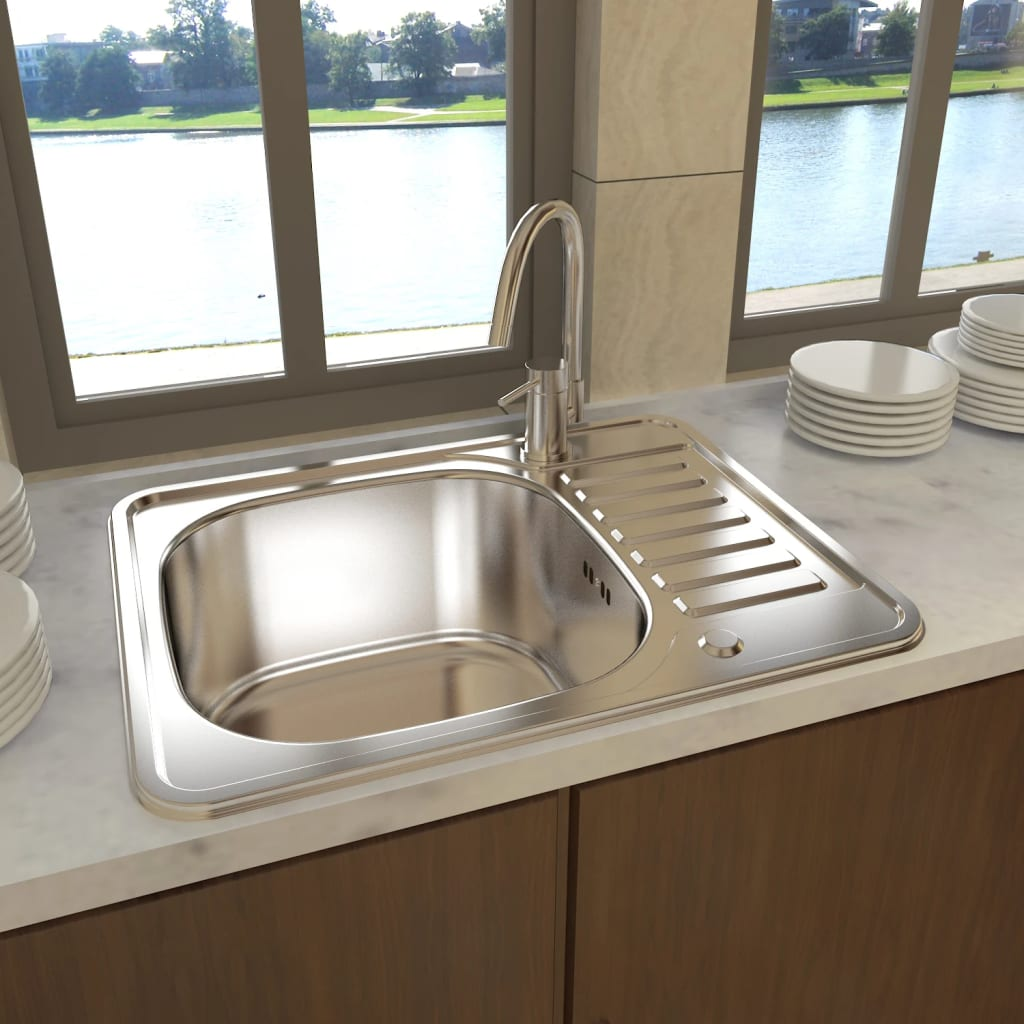 New Square Kitchen Sink Stainless Steel With Drain