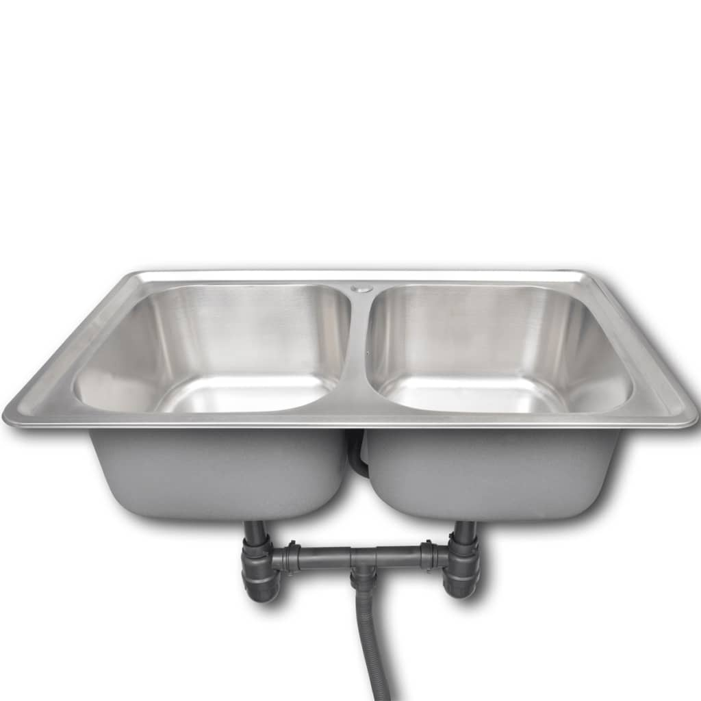 vidaXL.co.uk | Kitchen Sink Stainless Steel Square With ...