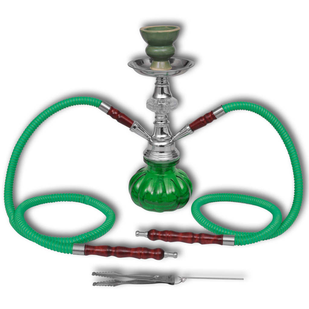 hookah wasserpfeife shisha 2 schl uche gr n g nstig kaufen. Black Bedroom Furniture Sets. Home Design Ideas