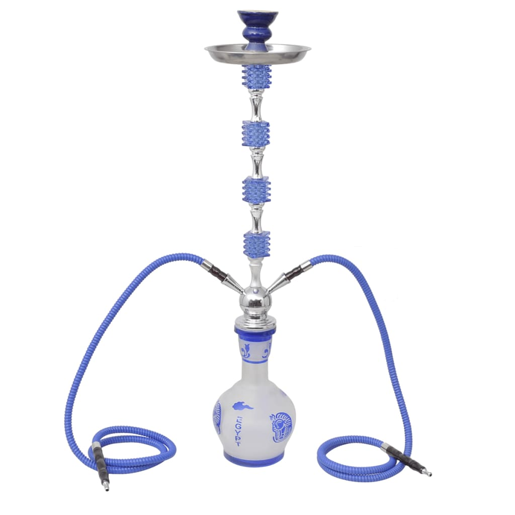 hookah wasserpfeife shisha 2 schl uche blau exotisches design g nstig kaufen. Black Bedroom Furniture Sets. Home Design Ideas