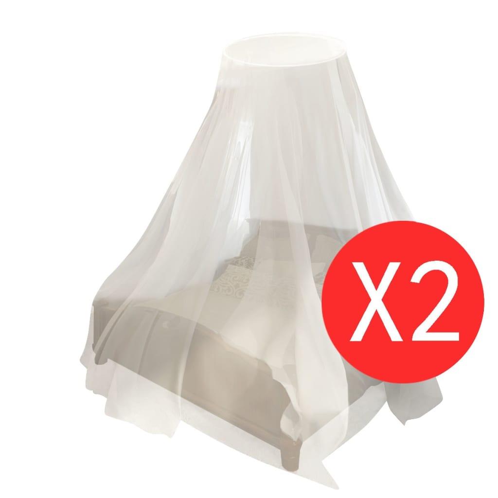 vidaXL-Moustiquaire-Lit-2pcs-Ronde-Blanc-Moustiquaire-pour-Lit-Anti-Moustique miniature 2