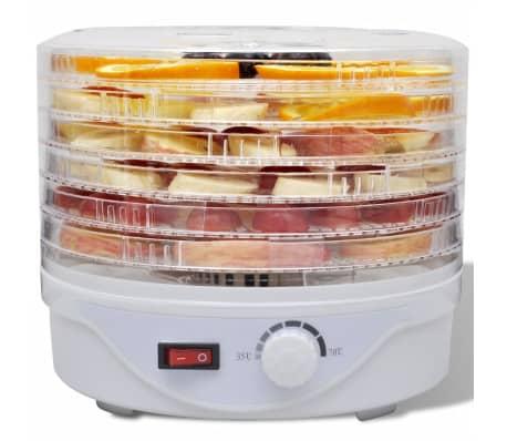 Desidratador alimentos com 6 bandejas empilháveis (redondo)