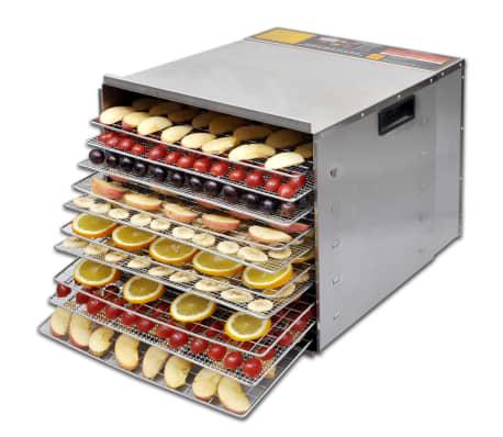 Dehidrator za sušenje hrane od nehrđajućeg čelika, 10 polica