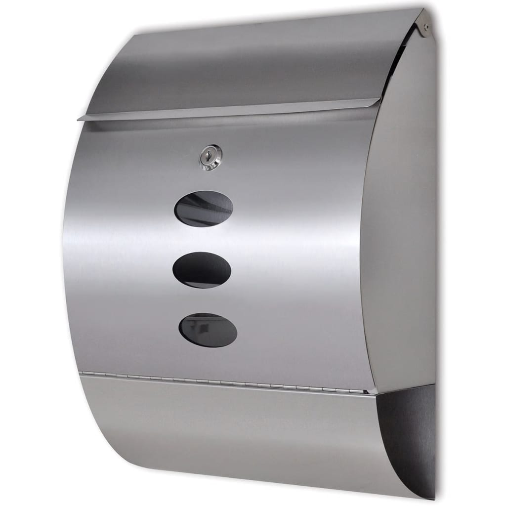 vida-xl-stainless-steel-mailbox