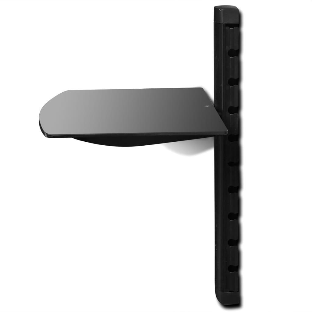 la boutique en ligne tag re murale noire 1 tablette pour. Black Bedroom Furniture Sets. Home Design Ideas