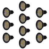 Lot de 10 spots en noir LED 3W GU10 Blanc chaud