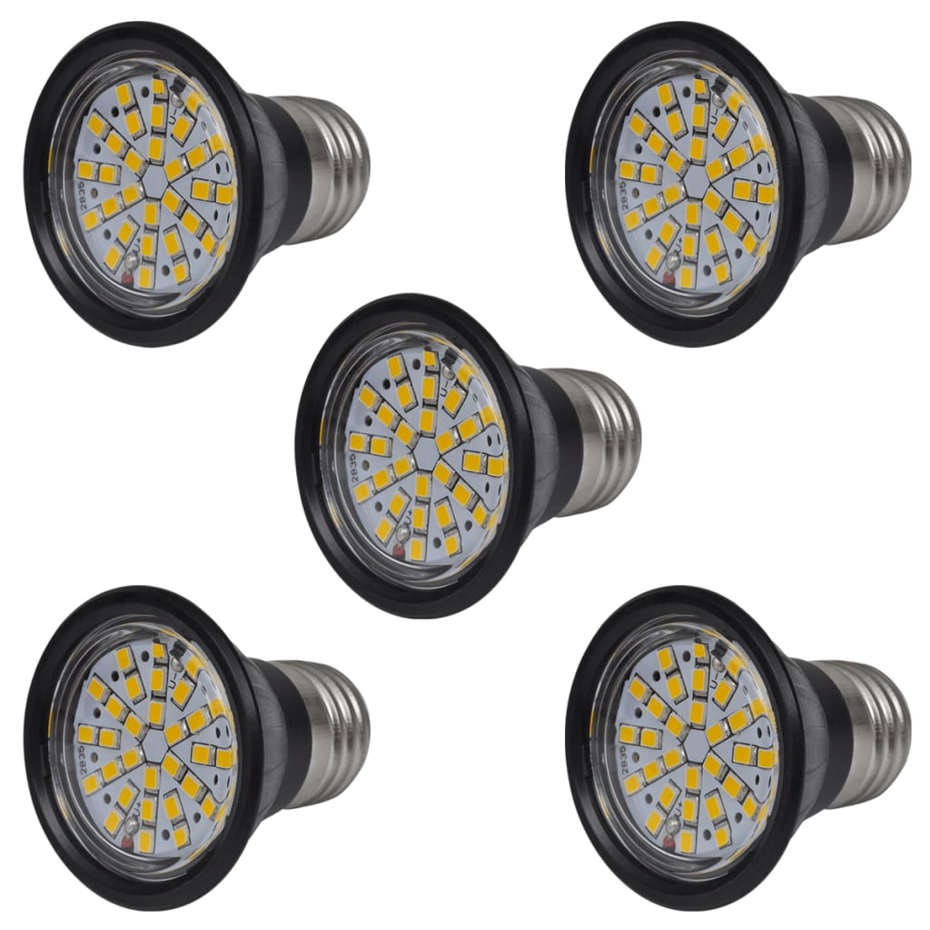 LED spotlights svart 3W E27 5-pack