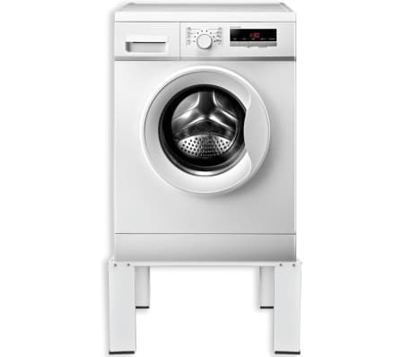 untergestell f r waschmaschine sockel podest erh hung wei im vidaxl trendshop. Black Bedroom Furniture Sets. Home Design Ideas