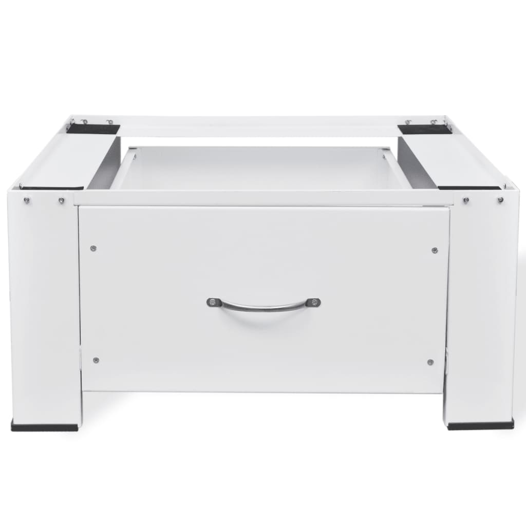 washing machine pedestal with drawer white. Black Bedroom Furniture Sets. Home Design Ideas