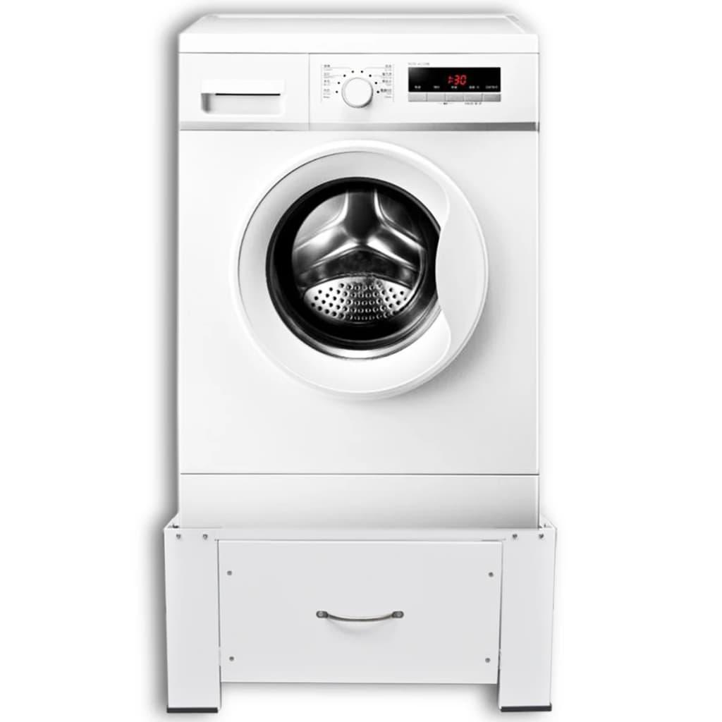 untergestell f r waschmaschine sockel podest mit schublade wei im vidaxl trendshop. Black Bedroom Furniture Sets. Home Design Ideas