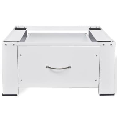 Pidestall for vaskemaskin med skuff Hvit[3/4]