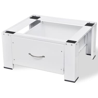 Pidestall for vaskemaskin med skuff Hvit[2/4]