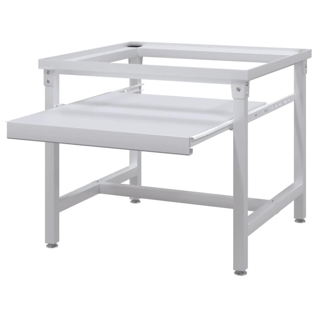 acheter socle avec tag re coulissante pour la machine laver blanc pas cher. Black Bedroom Furniture Sets. Home Design Ideas