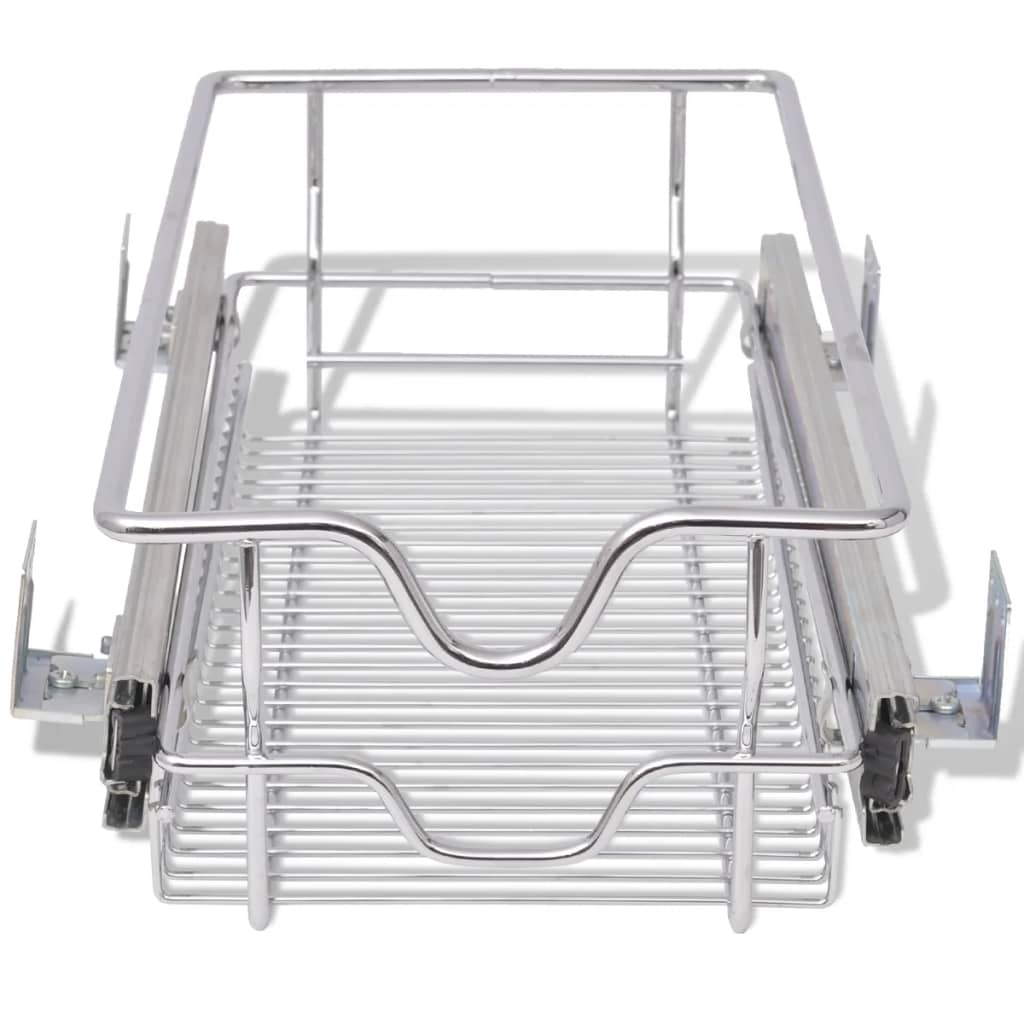 2-pcs-Pull-Out-Wire-Baskets-Kitchen-Base-Larder-Units-Storage-Organiser-300mm