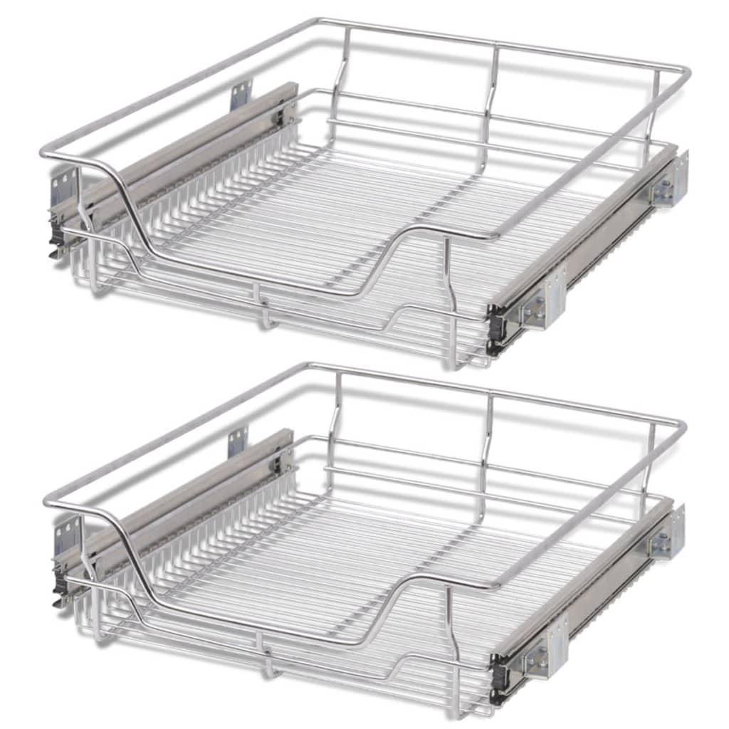 2-pcs-Pull-Out-Wire-Baskets-Kitchen-Base-Larder-Units-Storage-Organiser-500-mm