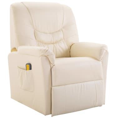 La boutique en ligne fauteuil relax massant blanc cr me delux - Fauteuil relax solde ...