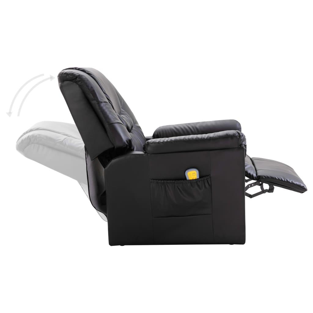 la boutique en ligne fauteuil relax massant noir delux. Black Bedroom Furniture Sets. Home Design Ideas