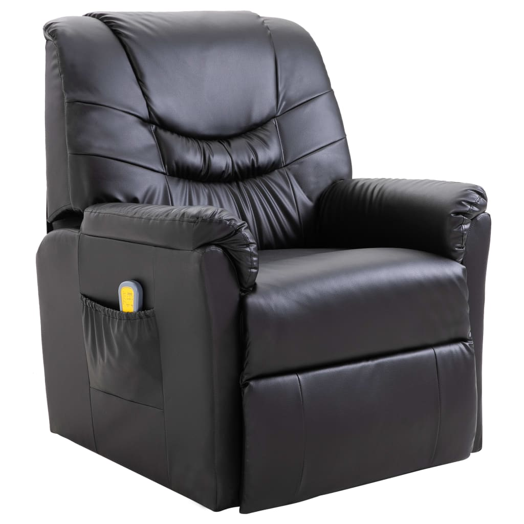 la boutique en ligne fauteuil relax massant noir delux. Black Bedroom Furniture Sets. Home Design Ideas