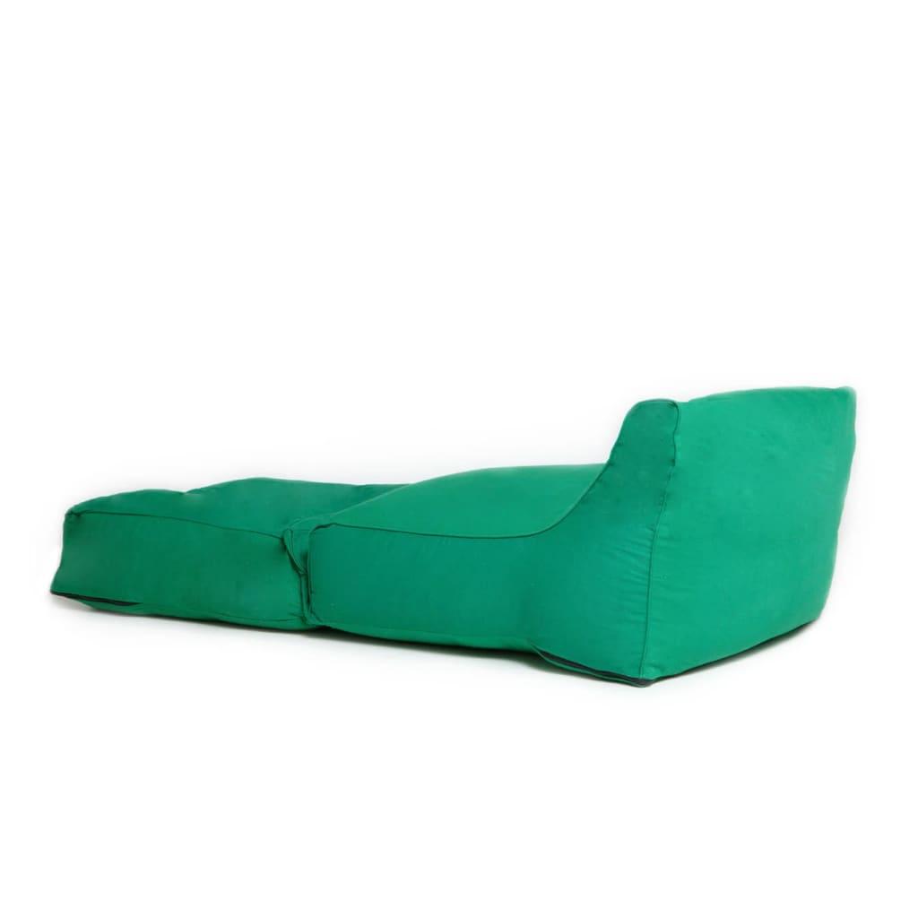 Sittsäck XXL Lounge Bomull 160x68x50 cm Grön Saccosäck