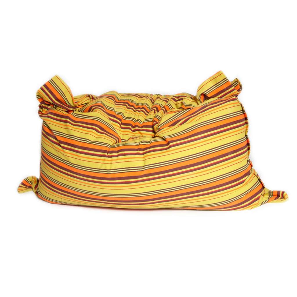 Sittsäck XL Bomull 140×200 cm Randig gul-orange Saccosäck