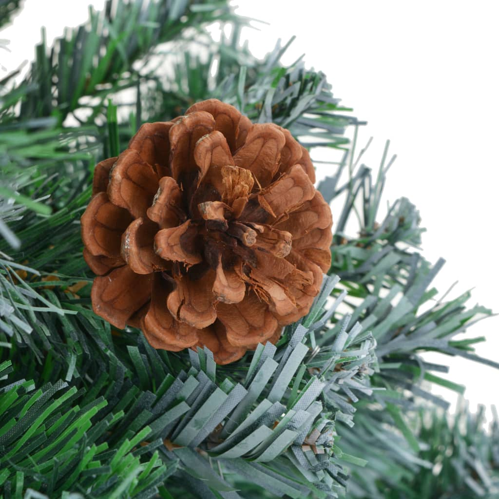 acheter vidaxl arbre de no l artificiel avec pommes de pin 180 cm pas cher. Black Bedroom Furniture Sets. Home Design Ideas