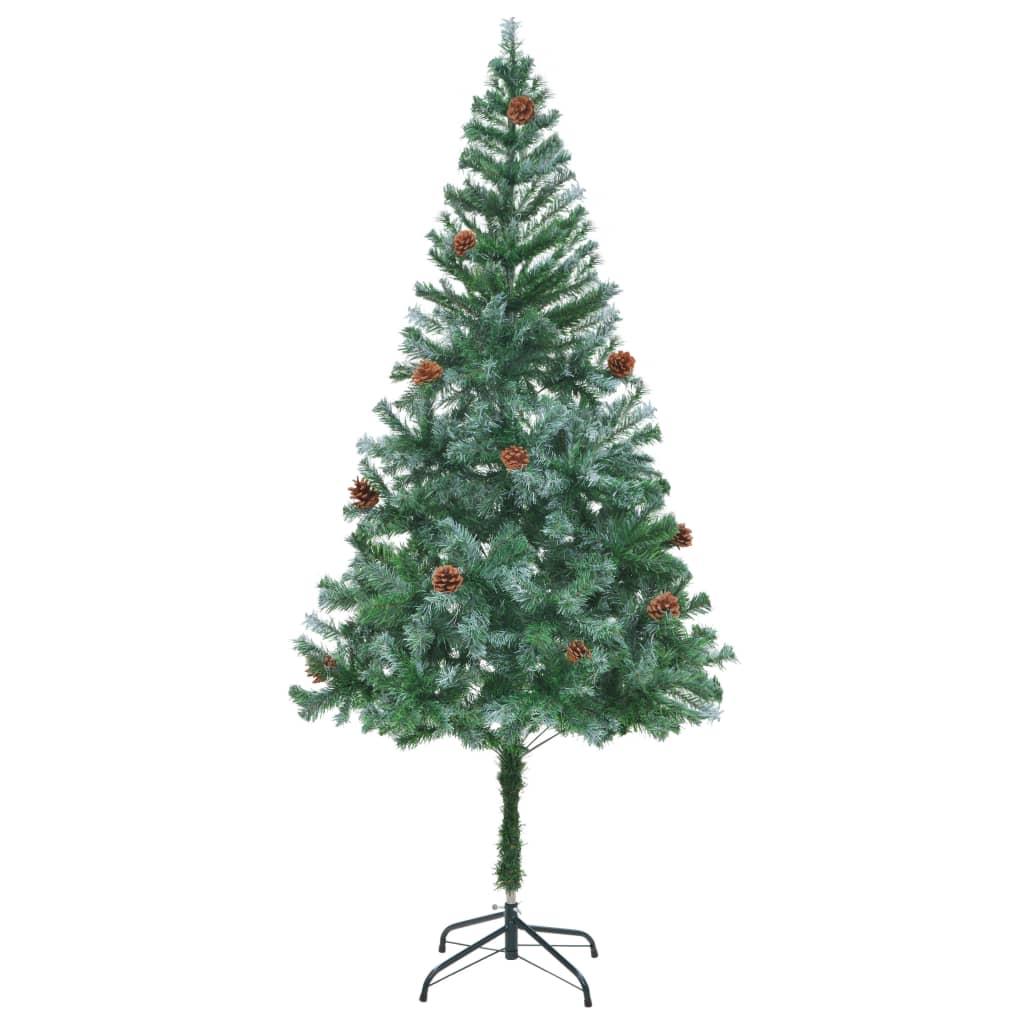 der k nstlicher weihnachtsbaum 180 cm mit tannenzapfen. Black Bedroom Furniture Sets. Home Design Ideas