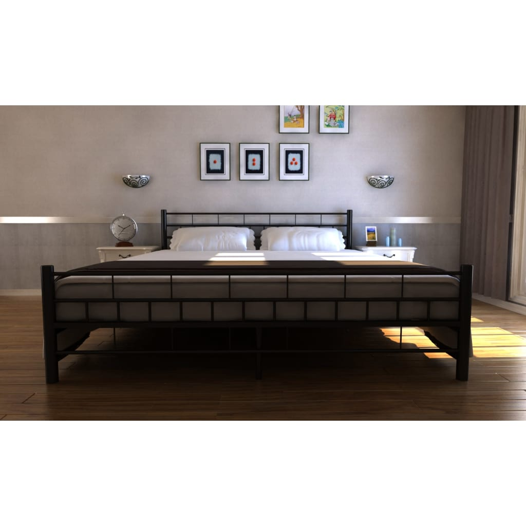 acheter lit adulte m tal 180 x 200 cm moderne pas cher. Black Bedroom Furniture Sets. Home Design Ideas