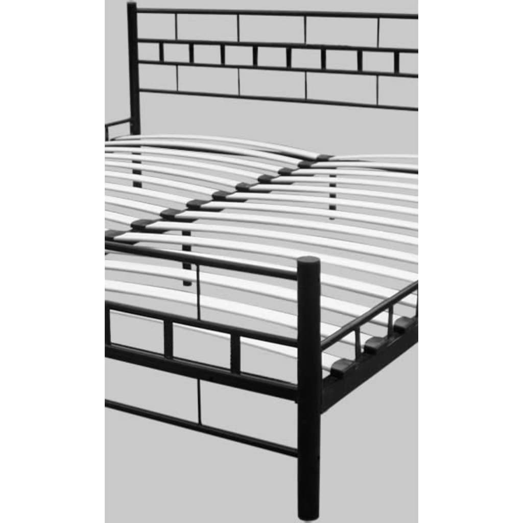 doppelbett bett mit lattenrost 180x200 cm schwarz g nstig. Black Bedroom Furniture Sets. Home Design Ideas