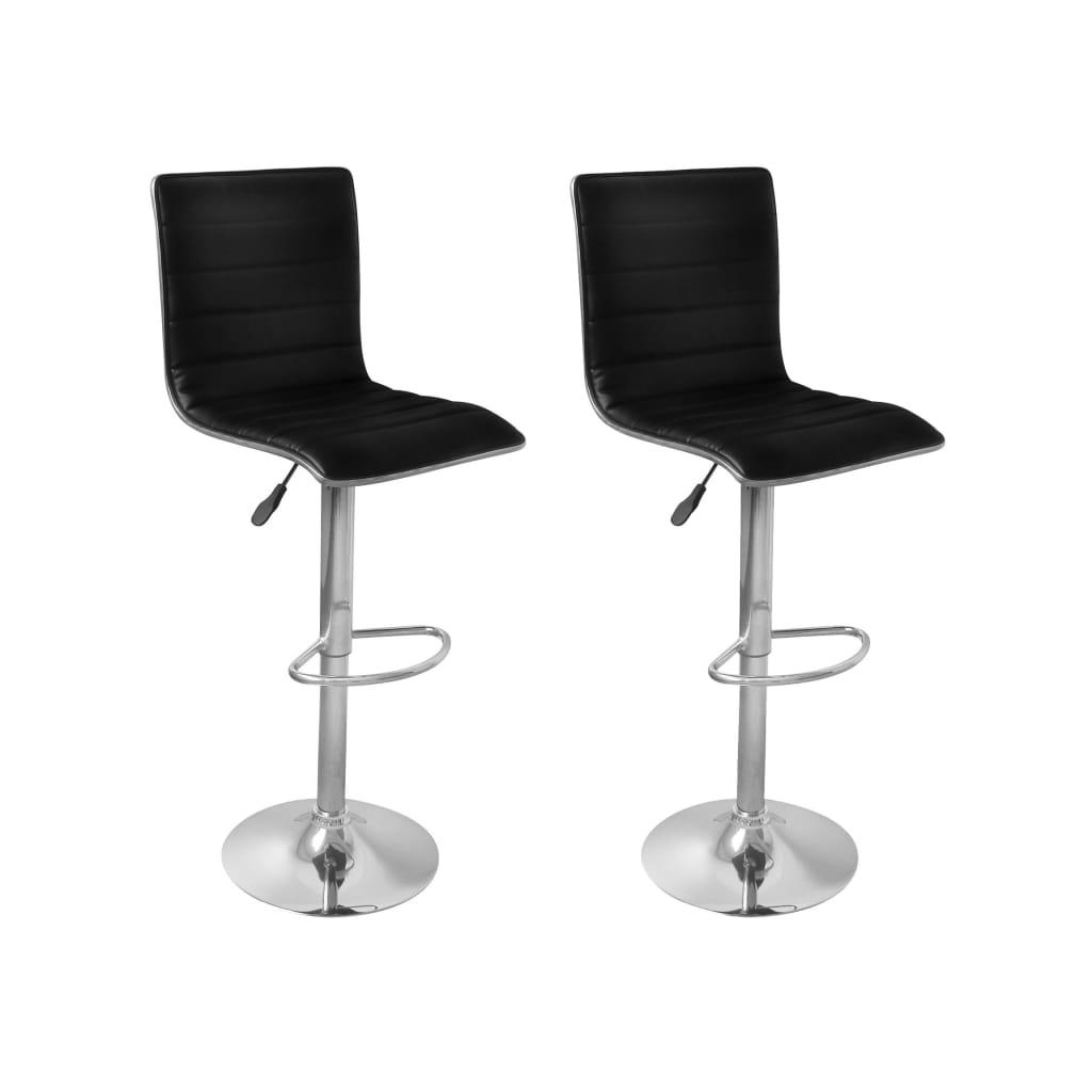 acheter vidaxl tabourets de bar 2 pcs noir pas cher. Black Bedroom Furniture Sets. Home Design Ideas
