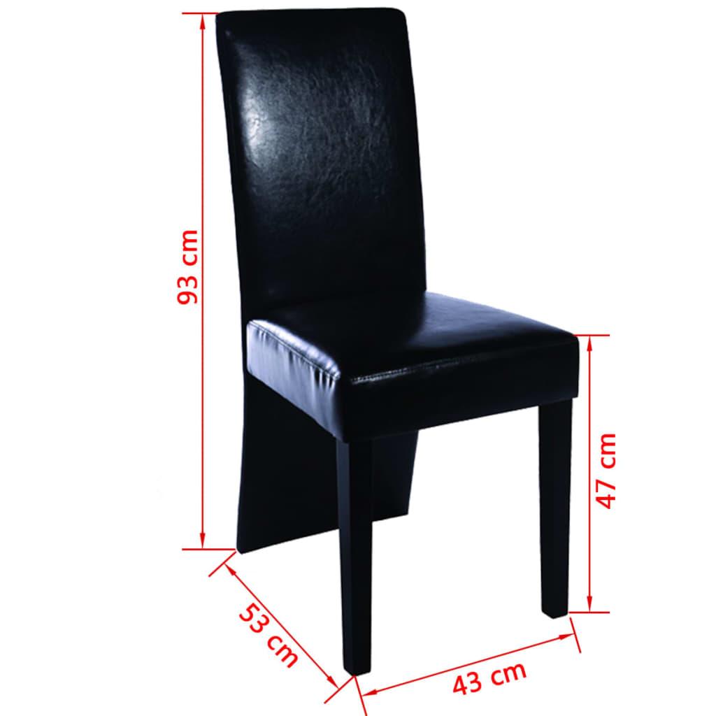 Articoli per sedie moderne cucina e pranzo set da 2 for Sedie nere moderne