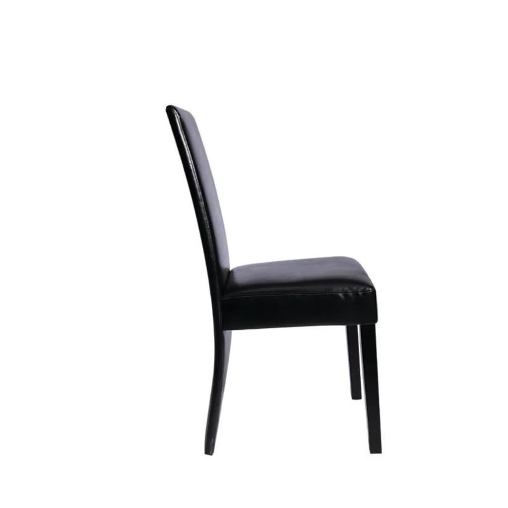 Acheter vidaxl chaise de salle manger 2 pcs cuir for Chaise de salle a manger en cuir noir