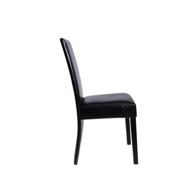 Acheter chaise design bois noir lot de 2 pas cher for Chaise bois solde