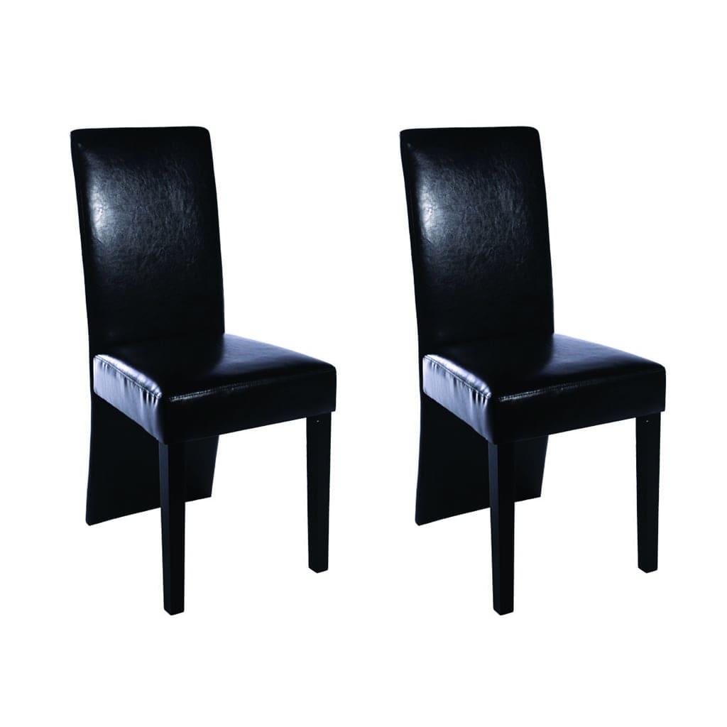 vidaxl esszimmerst hle 2 stk kunstleder schwarz g nstig kaufen. Black Bedroom Furniture Sets. Home Design Ideas