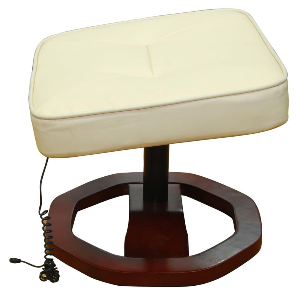 acheter fauteuil beige massant avec repose pieds pas cher. Black Bedroom Furniture Sets. Home Design Ideas