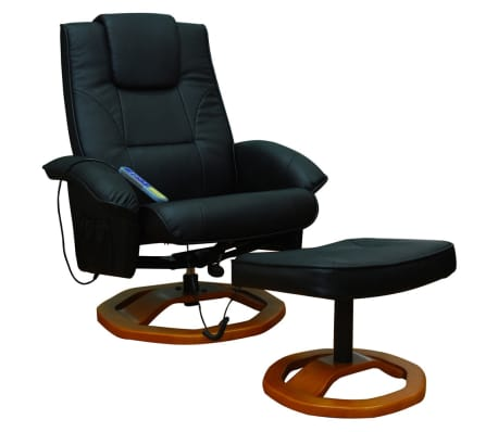 der massagesessel relaxsessel mit hocker schwarz online shop. Black Bedroom Furniture Sets. Home Design Ideas