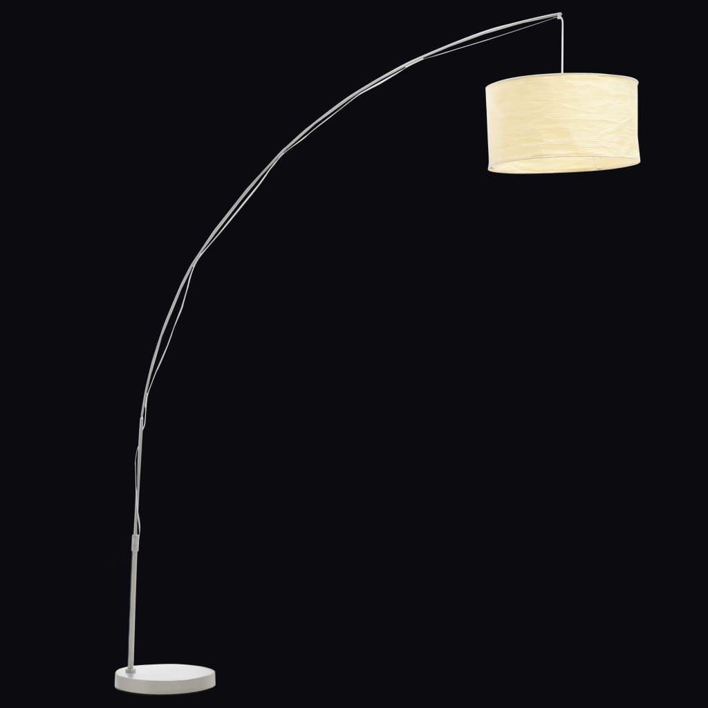 Lampada piantana da terra ad arco 192 cm carta fatta a mano ...