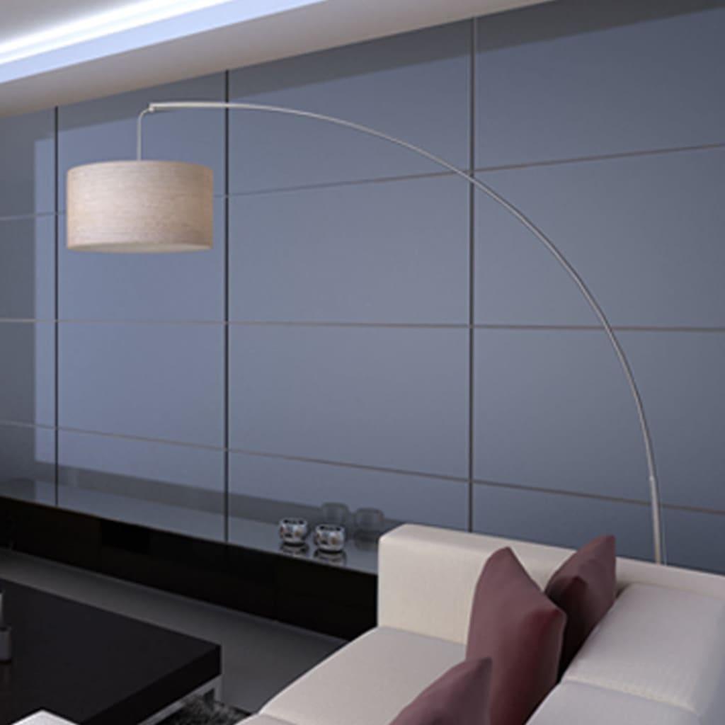 vidaXL Booglamp Verstelbaar 192 cm Crème Vloerlamp Lamp Interieur Verlichting