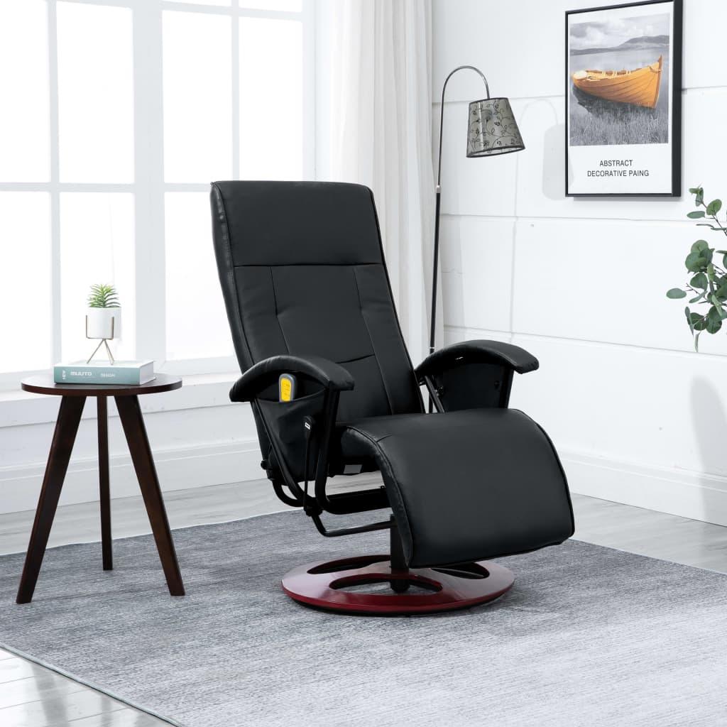 acheter fauteuil de relaxation dossier chauffant noir pas. Black Bedroom Furniture Sets. Home Design Ideas