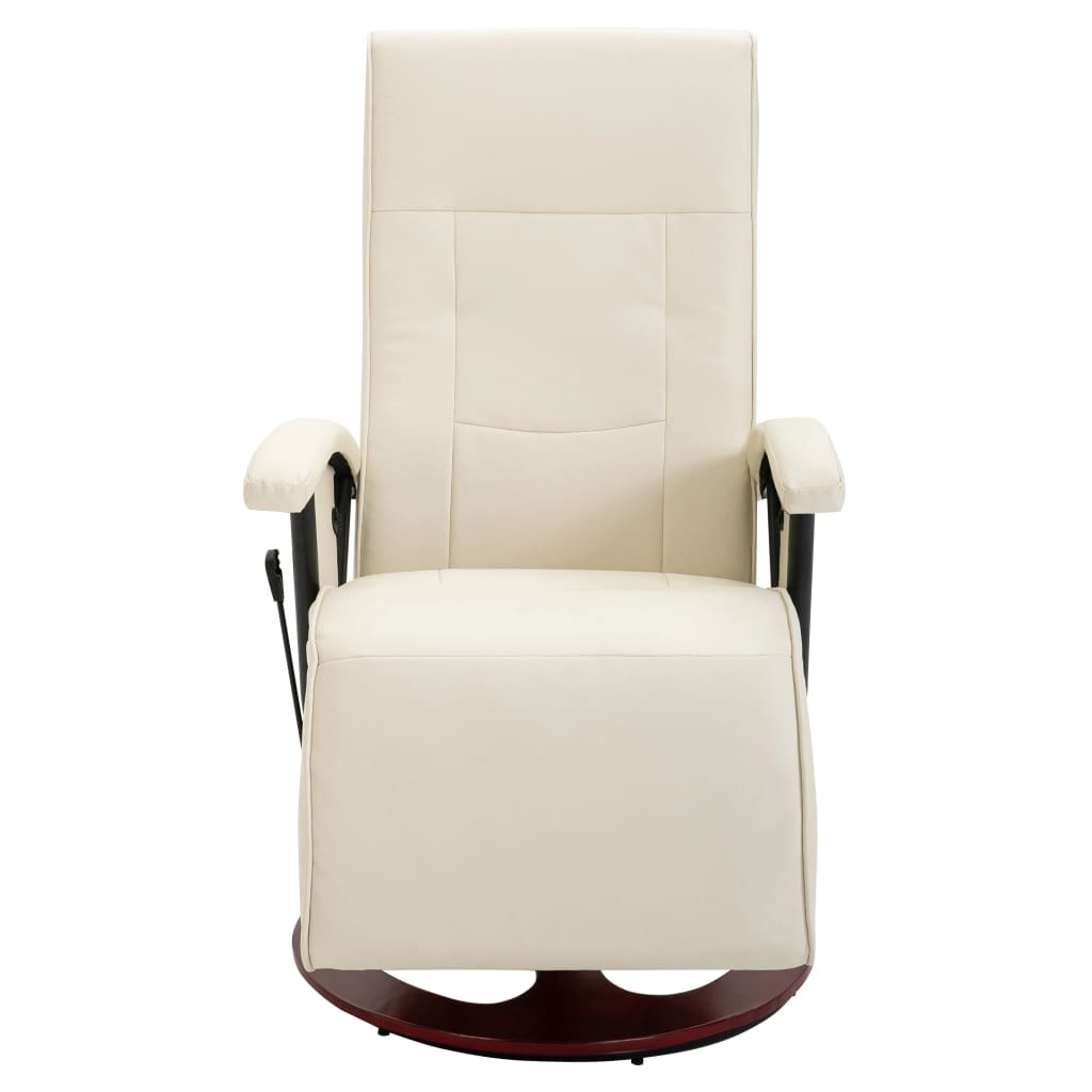 acheter fauteuil relaxation massant blanc cr me bois pas cher. Black Bedroom Furniture Sets. Home Design Ideas