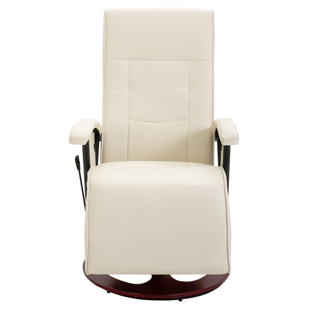 la boutique en ligne fauteuil relaxation massant blanc cr me bois. Black Bedroom Furniture Sets. Home Design Ideas