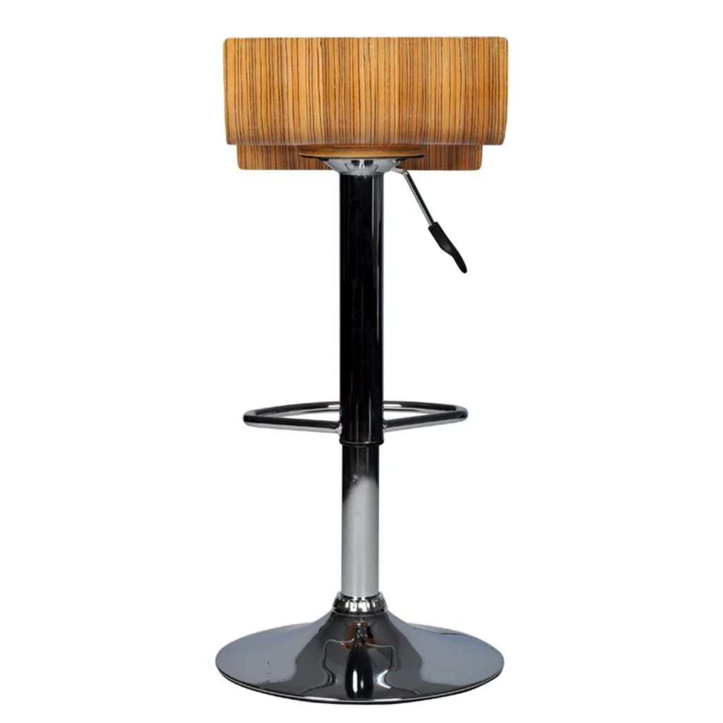 Vidaxl two contemporary wooden bar stools