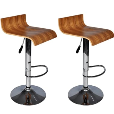 Two Contemporary Wooden Bar Stools[7/7]