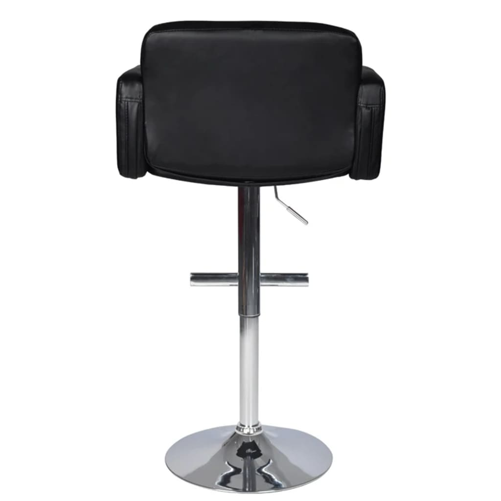 set of two bar stools with arm rest
