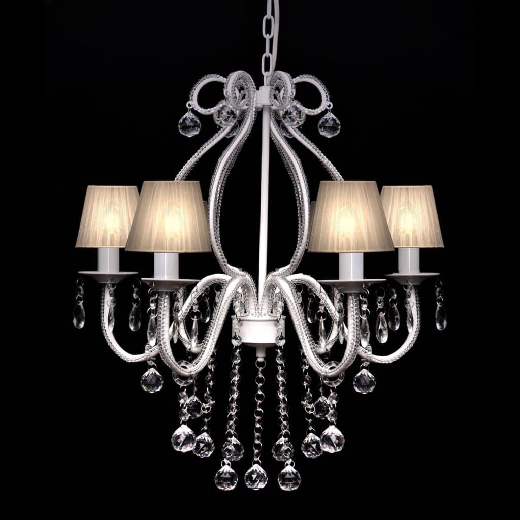 kristall kronleuchter mit 2300 echten glas kristallen wei im vidaxl trendshop. Black Bedroom Furniture Sets. Home Design Ideas