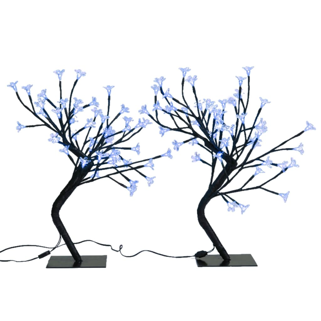 la boutique en ligne branches lumineuses lumi re bleue lot de 2. Black Bedroom Furniture Sets. Home Design Ideas