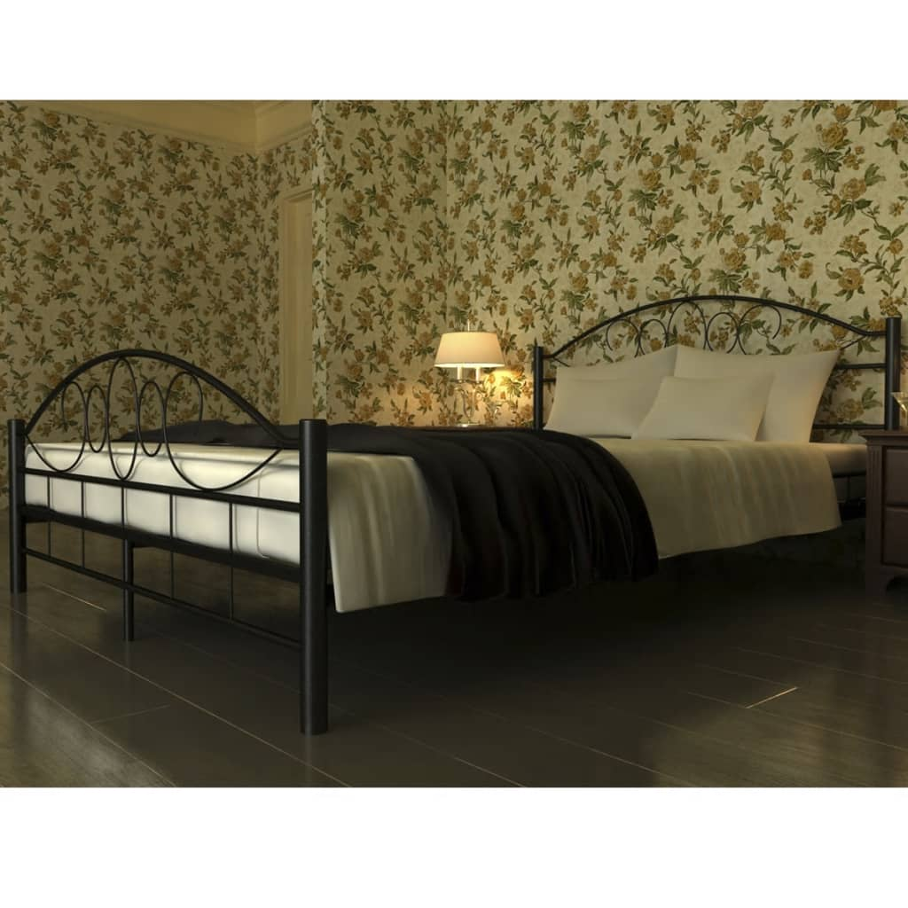 preisvergleich eu metallbett 140 200 schwarz. Black Bedroom Furniture Sets. Home Design Ideas