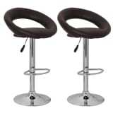 Tabouret design Cuba libre marron (lot de 2)